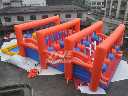 Commercial Event Outdoor Obstacle Course Inflatable Obstacle Challenge Balls For Adults