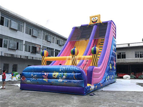 Commerical Big Inflatable Spongebob Slide For Sale