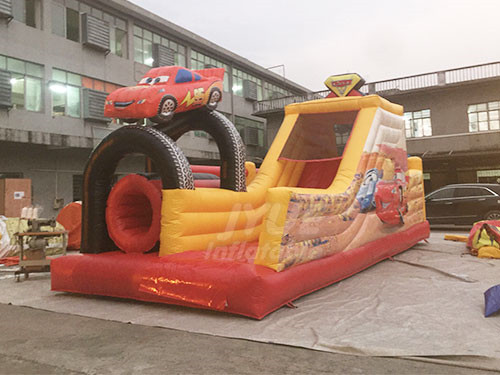 Kids N Adults Run Race Inflatable Obstacle Course For Kids