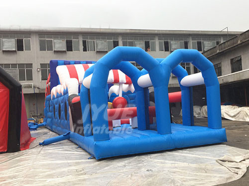 Outdoor Inflatable Kids Obstacle Course Equipment , Cheap Inflatable Obstacle Course