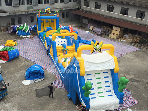 Kids Inflatable Bouncing Castle Inflatable Obstacle Course For Sale
