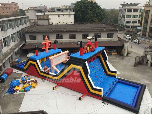 Cheap Crazy Game Pirate Ship kids And Adults Obstacle Course Equipment