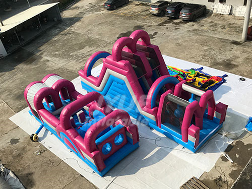 Inflatable Kids Adults Game Bounce House Obstacle Course For Outdoor Events