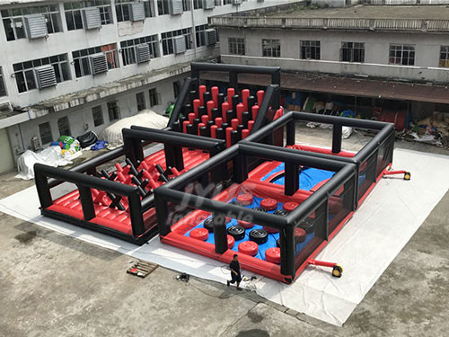 Bouncy Castle Obstacle Course Inflatables For Sale
