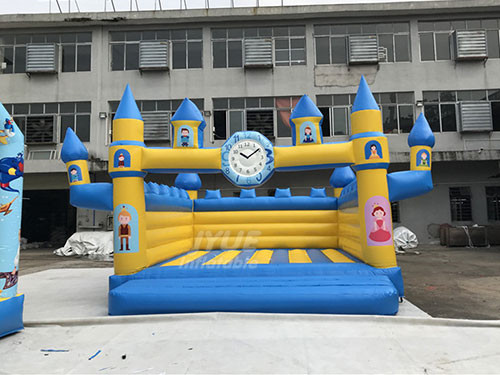 Jump House Party Clock Bounce House Commercial Inflatable