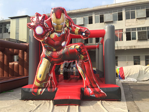 Small Indoor Inflatable Bouncers Iron Man Children's Jump House