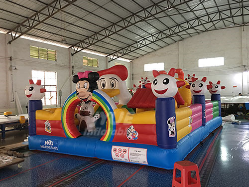 Blow Up Fun City Playground Indoor Jump House For Toddlers