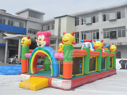 Summer Hot Sale Kids Inflatable Amusement Park Outdoor Fun City For Sale