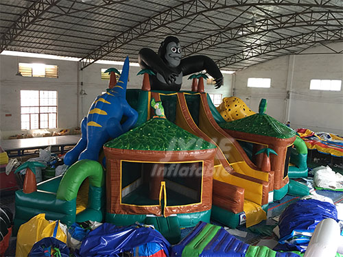 The Chimpanzee Playground Bounce House Giant Inflatable Playground For Outdoor