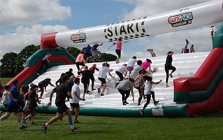 Inflatable 5K Obstacle Course In Brazil