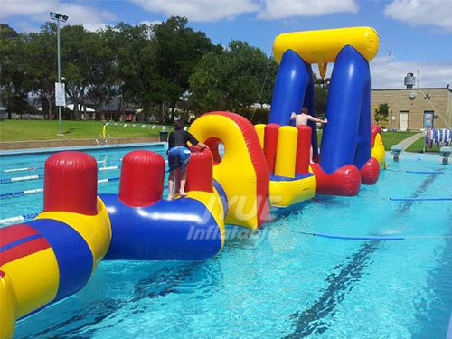 Inflatable Adult Water Obstacle Course For Swimming Pool