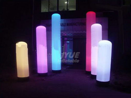 Hot Sale LED Inflatable Color Changing Column With Blower