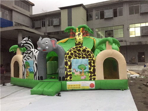 Jungle Theme Small Indoor Bounce House For Toddlers Playground