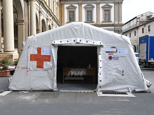 Outdoor Portable Red Cross Inflatable Medical Coronavirus Tent